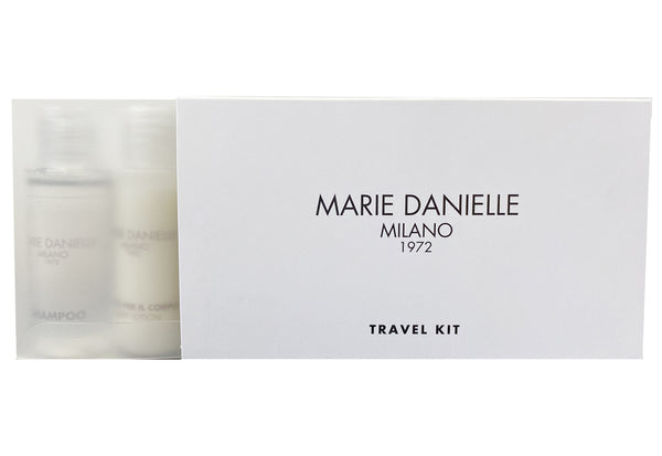 MARIE DANIELLE 1972 TRAVEL KIT 5 BOTTLES: 2 BATH FOAM - 1 SHAMPOO - 1 BODY CREAM AND 1 CONDITIONER