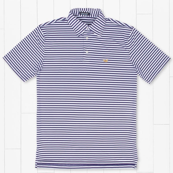 Southern Marsh Bermuda Performance Polo - Somerset Stripe