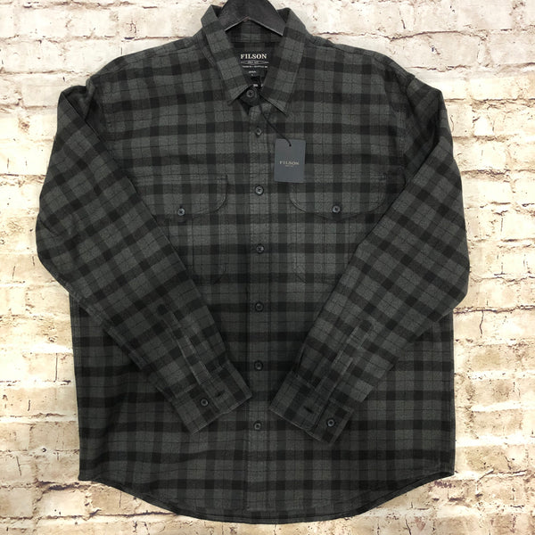 Filson Men's Alaskan Guide Flannel (Heather Grey/Black)