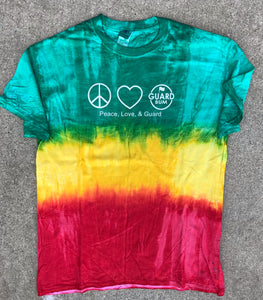 Peace, Love, & Guard Tie Dye T-shirt