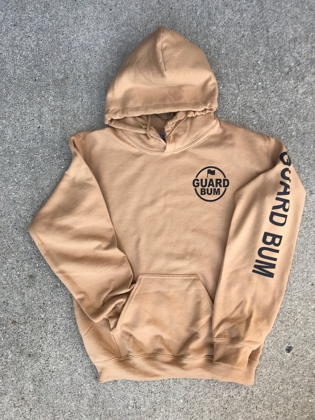 Tan Hooded Logo Sweatshirt