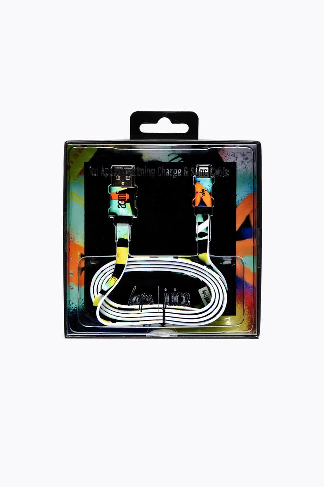 Hype X Juice, Graffiti, Apple Charge and Sync Cable, 1M Flat