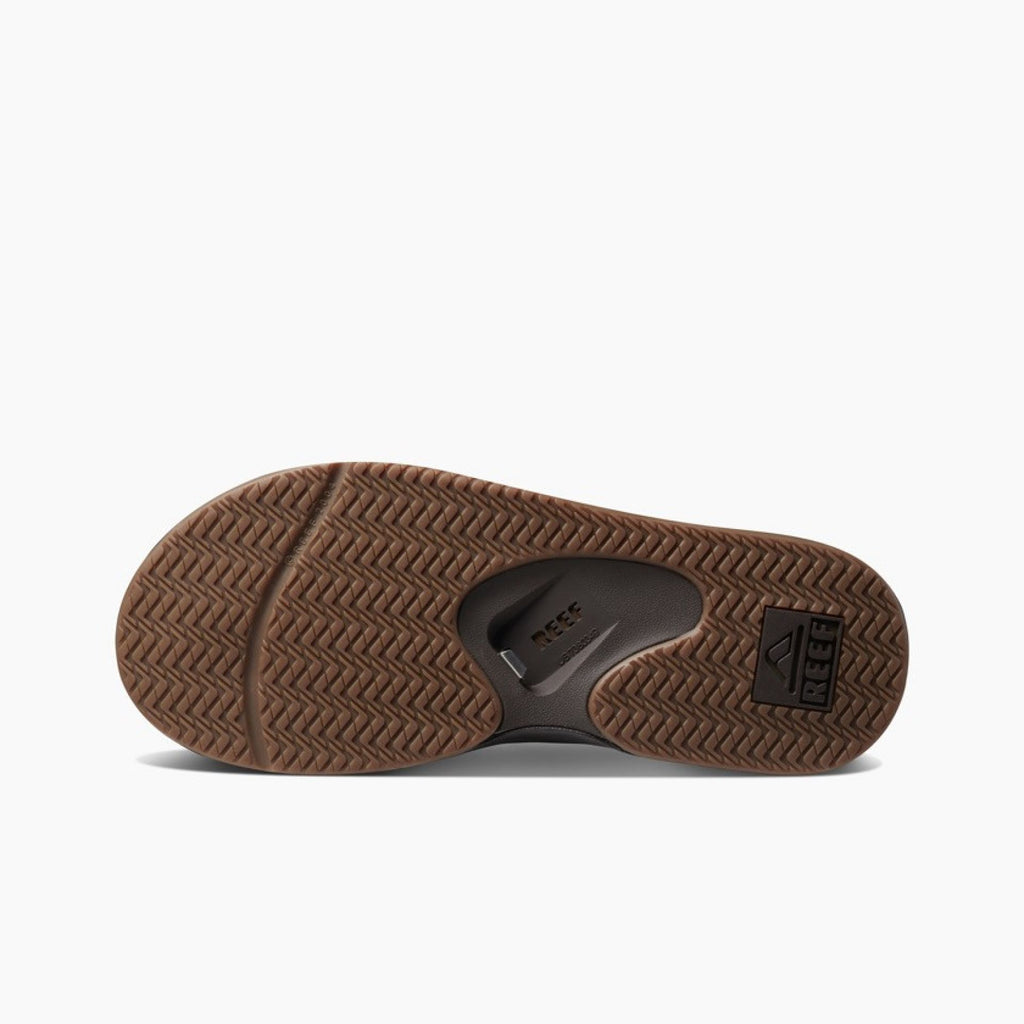 Mens Reef Leather Fanning Flip Flops