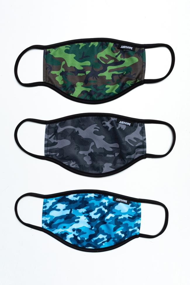 Hype Adult (3 Pack) Camo Love Face Masks
