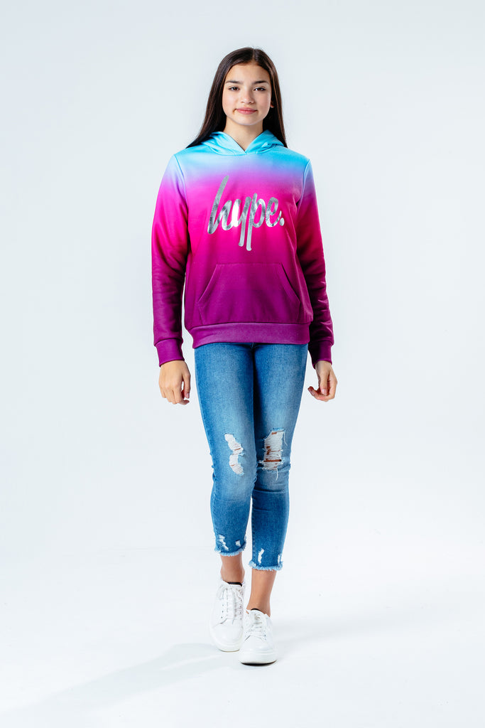 Hype Girls Raspberry Fade Hoody