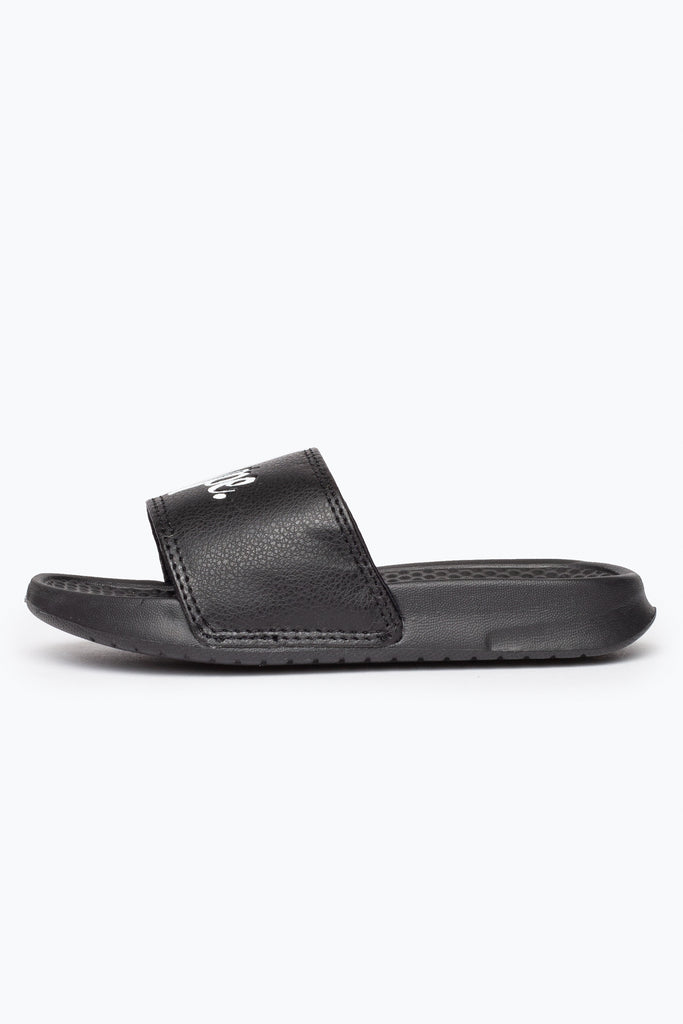 Hype Kids Black Script Sliders