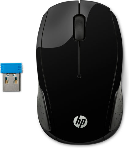 Mouse Hp 200 Inalambrico Negro (X6W31AA#ABL)