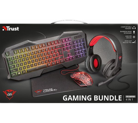 Trust Gxt 788Rw Gaming Bundle 4 In 1 Es22588)