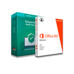 Bundle Microsoft Office 365 Personal (QQ2-00887) + Kaspersky Antivirus 1 Usuario 1 año (KL1171Z5AFS-9)