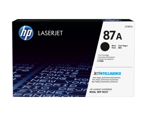 Toner Hp Laserjet 87A Black Toner Cartridge (Cf287A)