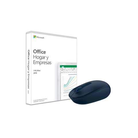 Office Home And Business 2019 Lice. Perpetua + Mouse Microsoft Azul Marino