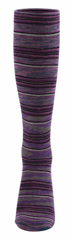 Ja-vie Compression Socks, Purple Stripe