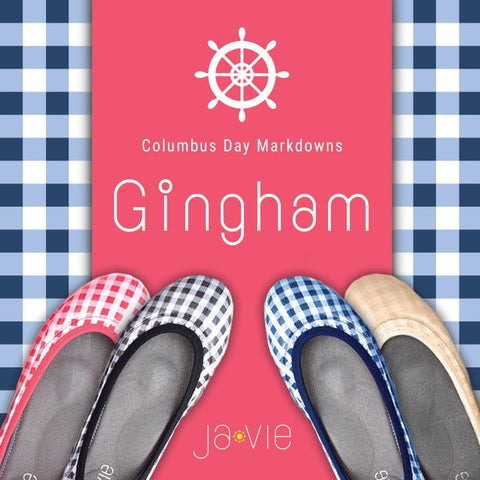 ja-vie navy gingham jelly flats shoes