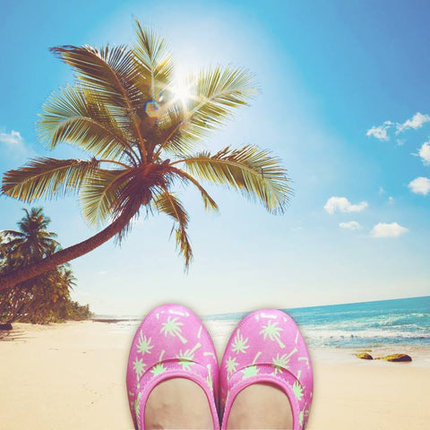 ja-vie palm tree jelly flats shoes