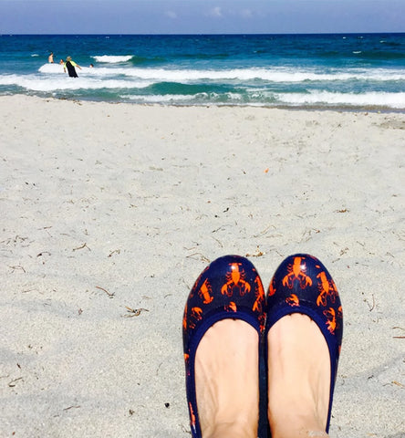 ja-vie lobster jelly flats shoes