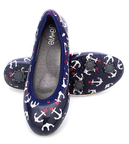 ja-vie anchors away jelly flats shoes