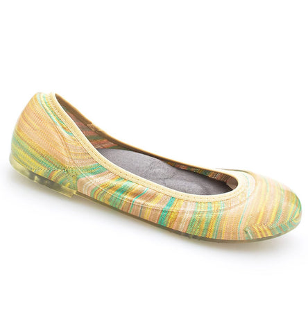 ja-vie pastel stripe jelly flats shoes
