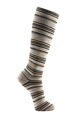 Ja-vie Compression Socks, Desert Stripe (15-20mmHG)