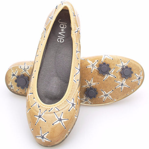 ja-vie starfish sand jelly flats shoes