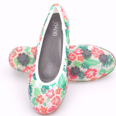 ja-vie tropical jelly flats shoes