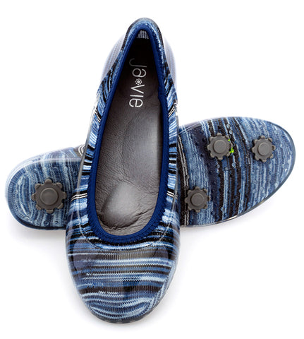 ja-vie twilight blue stripe jelly flats shoes