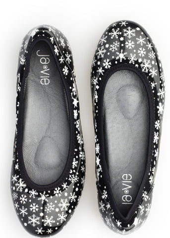 ja-vie snowflake jelly flats shoes