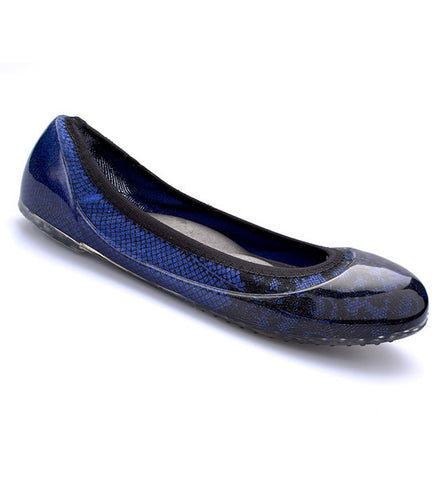 Blue/Black Lace Flats