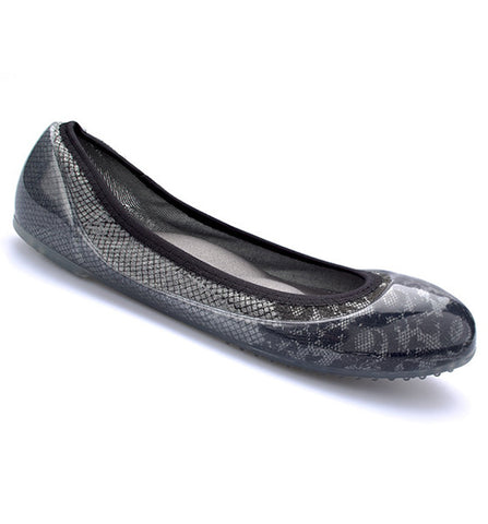 Grey/Black Lace Flats