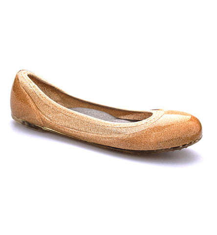 ja-vie shimmering gold jelly flats shoes