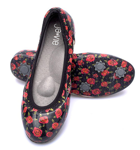 ja-vie floral rose magenta jelly flats shoes