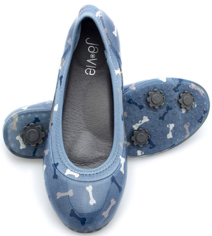 ja-vie dog bone blue jelly flats shoes