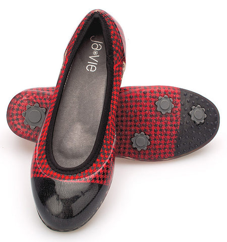 Red/Black Houndstooth Flats