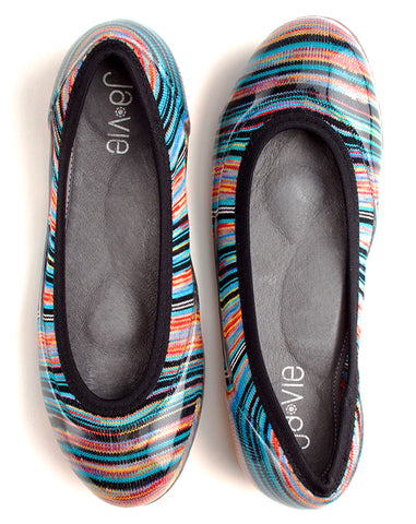 ja-vie fiesta stripe jelly flats shoes