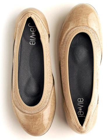 ja-vie sand stripe jelly flats shoes