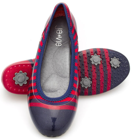 Navy/Red Rugby Stripe Flats