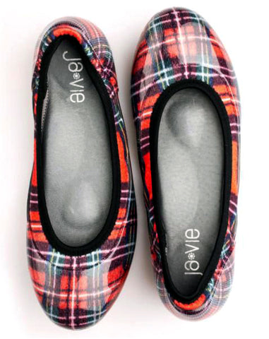 Red Plaid Flats
