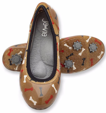 ja-vie dog bone jelly flats shoes