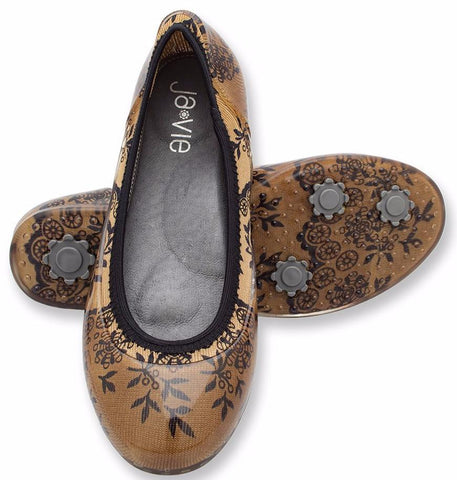 Fawn/Black Lace Flats