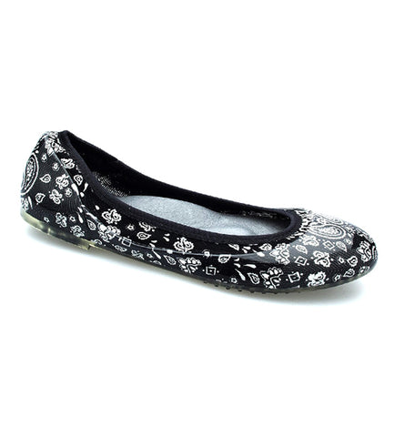 ja-vie black bandana jelly flats shoes
