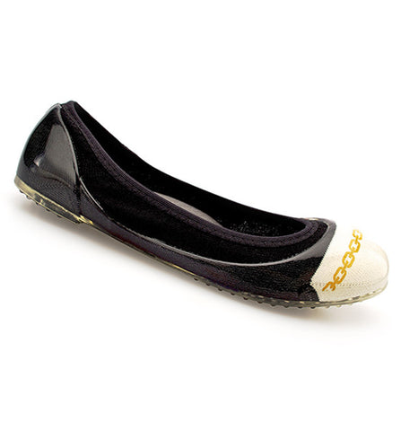 Chain Black/White Flats