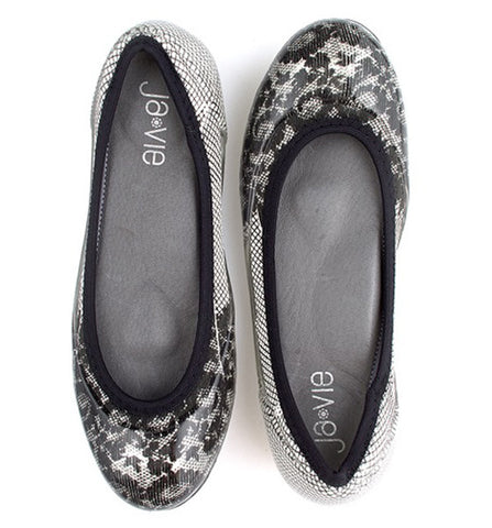 Black Lace/White Flats