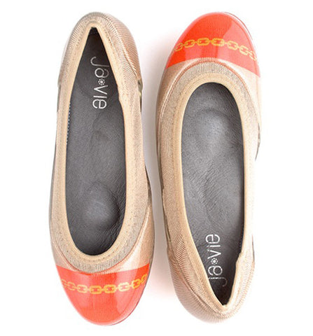 Chain Flame/Nude Flats