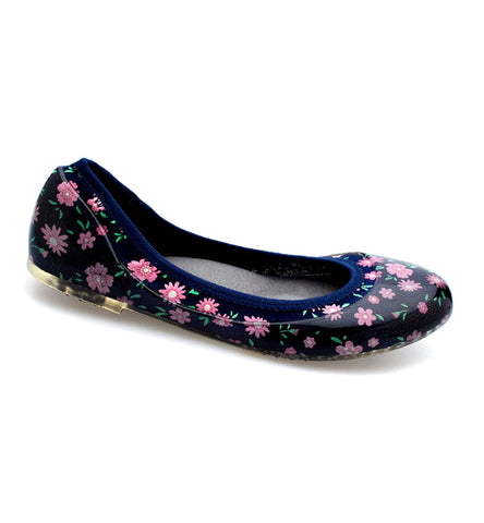 Baby Floral Navy Flats