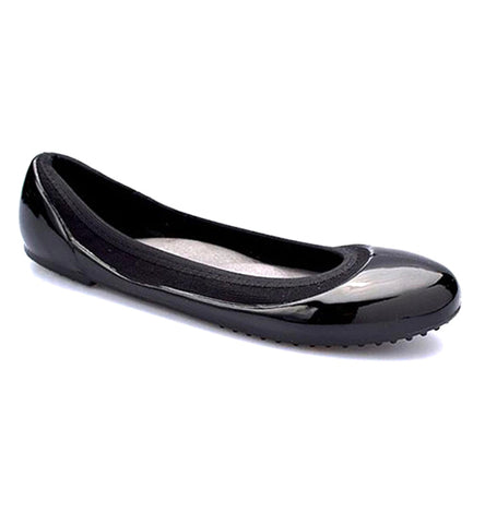 ja-vie black w. black jelly flats shoes