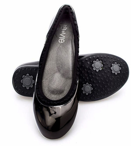 ja-vie black ruffle jelly flats shoes