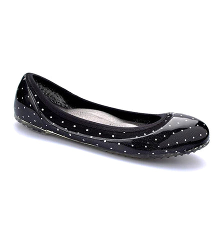 ja-vie black/white baby dot jelly flats shoes