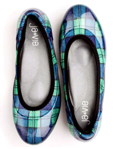Blue/Green Plaid Flats