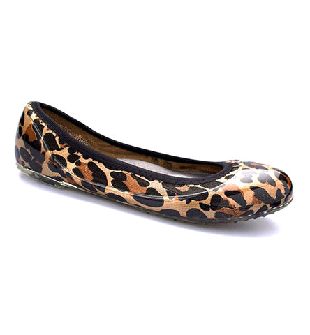 ja-vie leopard animal print jelly flats shoes