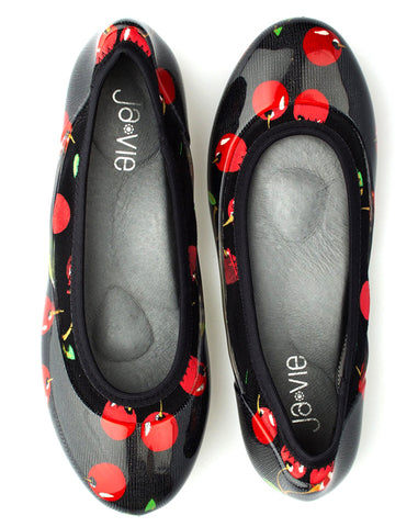 ja-vie cherry jelly flats shoes