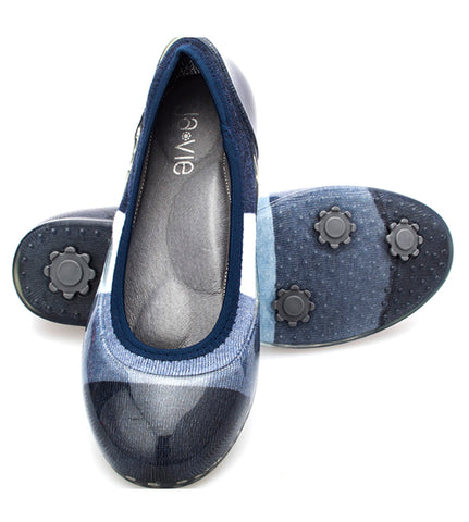 Denim Colorblock Flats